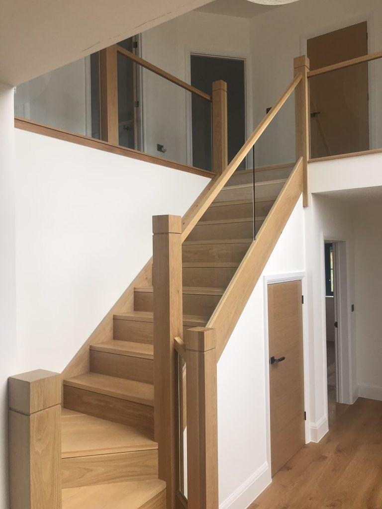 modern natural staircase