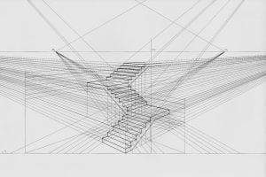 technical stair detail plan prepared by joiners